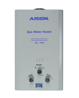 silver gas water heater 10-liter