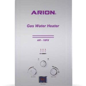 سخان مياه غاز آريون ديجيتال 10 لتر – فضي
