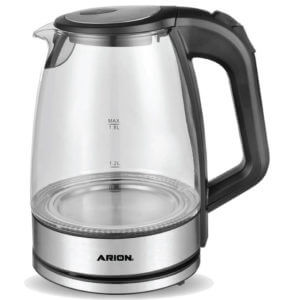 ARION Glass Kettle 1.8 Liters – Black