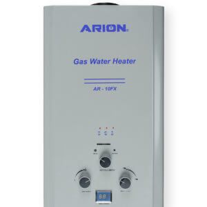 ARION Digital Gas Water Heater 10 Liters – Silver