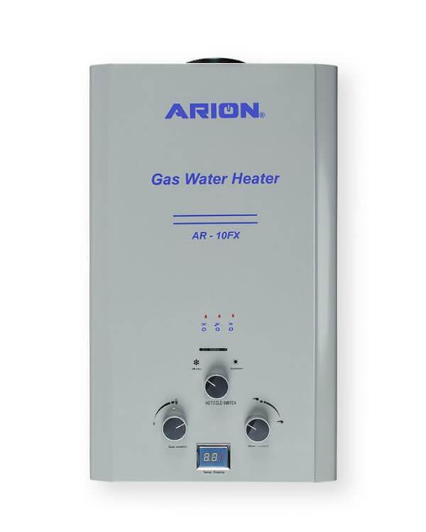 سخان مياه غاز آريون ديجيتال 10 لتر - فضي