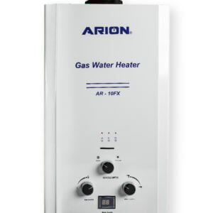 ARION Digital Gas Water Heater 10 Liters – White