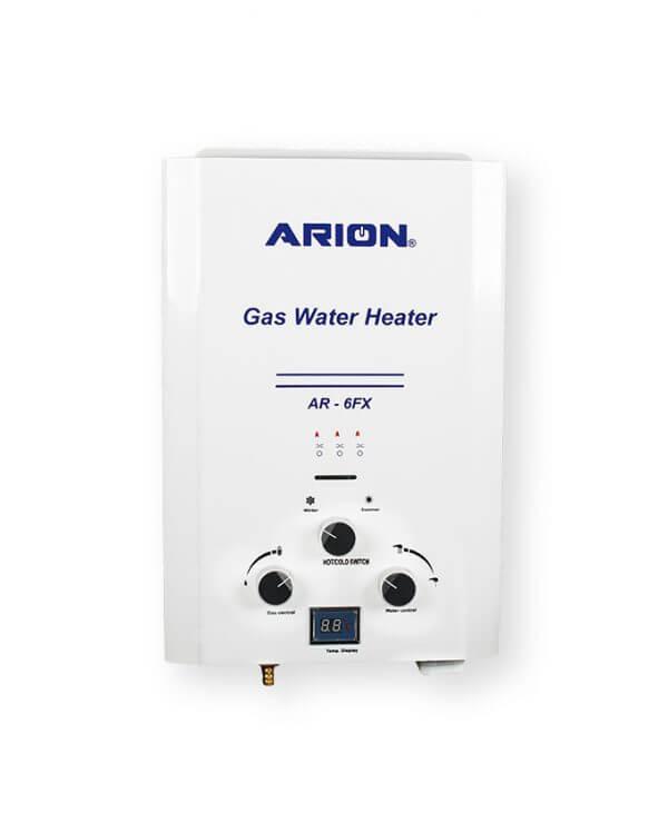 سخان مياه غاز آريون ديجيتال 6 لتر - ابيض
